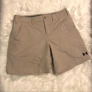 Women's Under Armour Khaki Shorts Size 4
